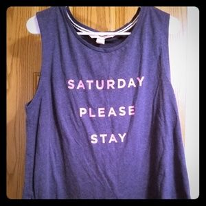 Victoria's Secret Tops - 5/$25 Victoria's secret lazy Saturday shirt Lg